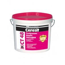 Ceresit CT-48 силиконовая краска, 10л