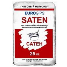 Шпаклевка гипсовая финишная SATEN Евро, 25 кг